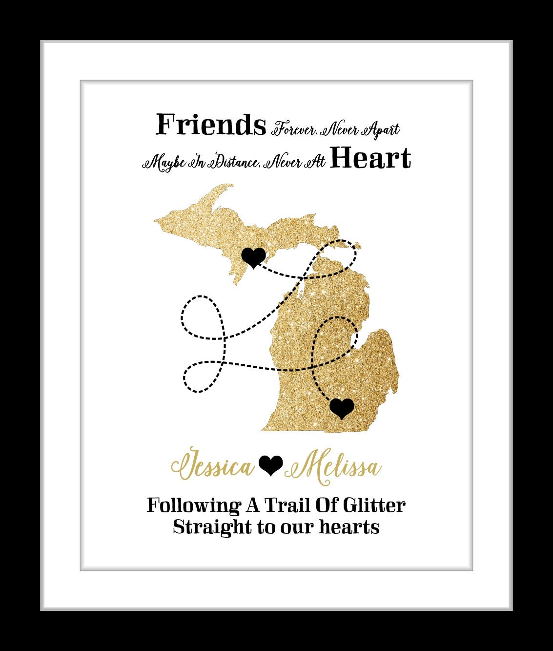 7 Personalized Birthday Presents For Your Best Friend: Best Friend Birthday Gift Personalized BFF Bestie Present