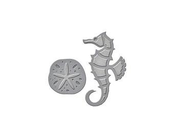 Spellbinders - Die D-Lites - Seahorse & Sand Dollar