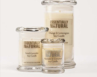 Organic Handmade Large Soy Candle Large Jars 550g