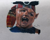 Sloth Portrait from the Goonies! Prisma Colored Pencil Portrait: One of a Kind Reese Hilburn Art