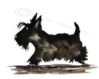 Scottie Dog  Art Print Scottish Terrier #57