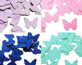 Butterfly Shaped Plantable Seed Paper Confetti, Wildflower, Recycled Paper  - 100 Pack, Available in 28 Colors