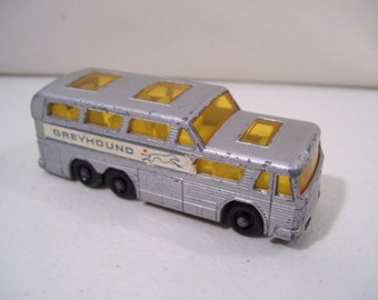 Vintage Matchbox Greyhound Coach Die-cast Bus, Lesney, England, No. 66, 1960's