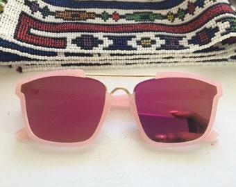 Deadstock Pink frame Metallic Lens Sun Glasses