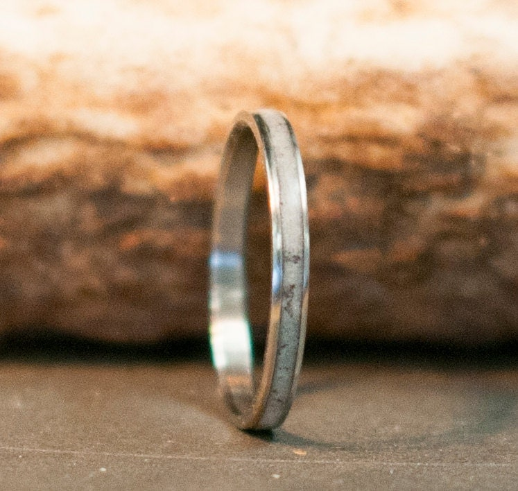 Womens Wedding Band Elk Antler Stacking Wedding By StagHeadDesigns
