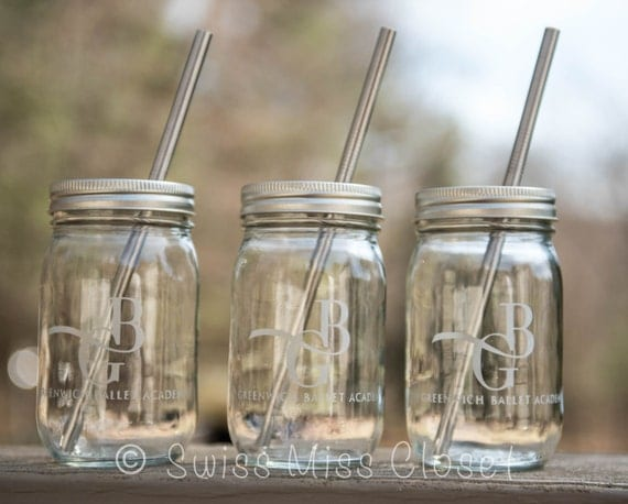 1 Custom Engraved 16oz jar With Your Own Logo, Company logo, Fundraiser, or Birthday Parties or anything you can think of.