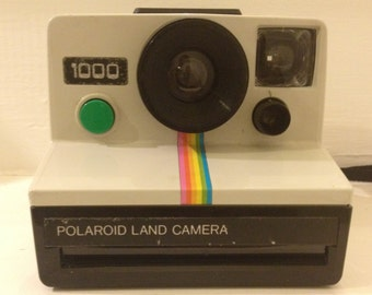 Vintage Polaroid 1000 Rainbow Land Camera SX-70 from the 70s