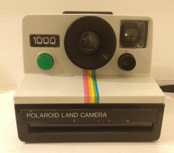 vintage polaroid 1000 rainbow land camera sx 70 by purplelane168. Black Bedroom Furniture Sets. Home Design Ideas