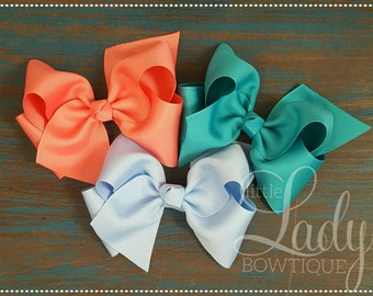 Medium hair bows made to match Matilda Jane- once upon a time- chapter 2- hair bows for girls- 4 inch hair bows- hair bow set-hair accessory
