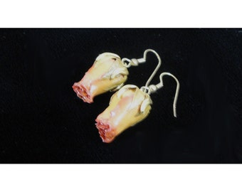 1990s Rose Bud Earrings