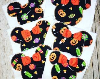 FAMILY HALLOWEEN Mickey Minnie Mouse Inspired Disney Family Vacation Trip Stripe Tee Tshirt Tank Mom Dad