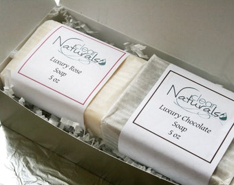 Chocolate & Roses Luxury Soap Gift Set - Mothers Day Gift, Gift for Mom, Soap Gift Set, Spa Gift