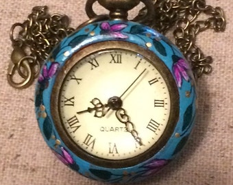Hand painted pocket watch