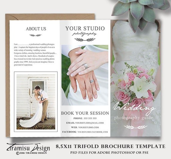 Wedding Brochure Ideas: Wedding Photography Guide Template Trifold Brochure Photoshop
