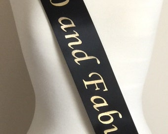 40th Birthday Favor Sash, 40 and Fabulous Birthday Party, Birthday Sash, 40th Birthday Party, 40th Birthday Gift, Fun Party Sash