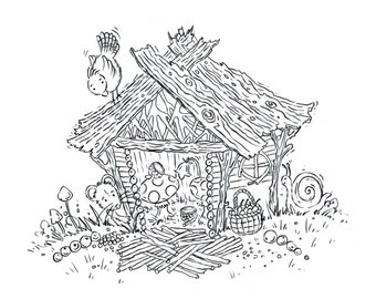 The Fairy House - Original drawing for 'Where Do Fairies Go When It Snows?'