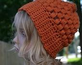 SALE Puff Stitch Slouch in Orange-Toddler Size