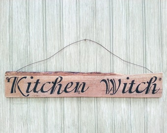 Kitchen Witch Sign - Wood Witch Sign - Wall Hanging Kitchen Witch Sign