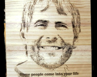 laser engraved photo, personalized photo,  laser photo on wood,  In Memory plaque, In Memory, Custom memorial
