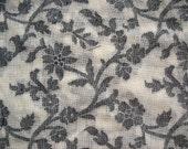 Floral Handloom woven cotton Jacquard Semi Sheer Fabric by Yard
