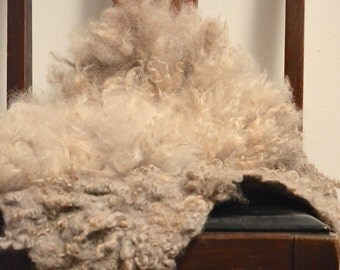 OOAK  handmade wool felt fur rug from organic sheep wool looks like a natural pelt, pet and eco-friendly - any size - to order!