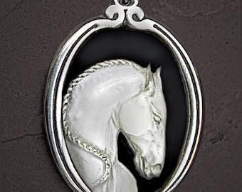 Horse Cameo Necklace Lusitano Horse