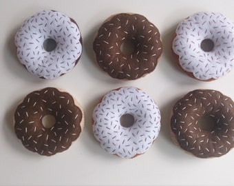 half a dozen felt donuts