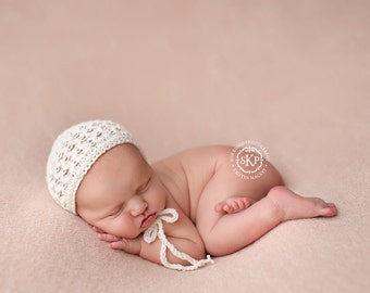 Newborn Photography Fabric Backdrop -  Ultra Soft Drew Knit Backdrop - Pale Pink