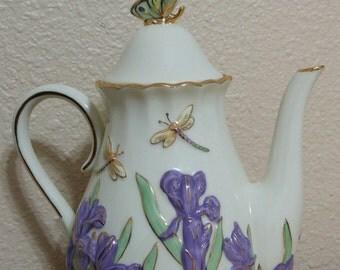 Lenox teapot lenox tea pot butterfly teapot  lenox butterfly teapot lenox butterfly tea pot springtime splendor