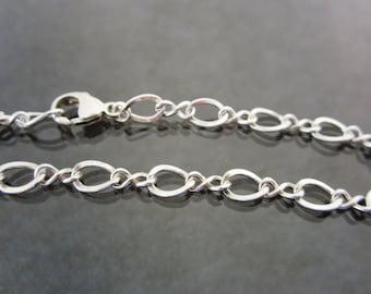 Sterling Silver Chain Bracelet - infinity - womens