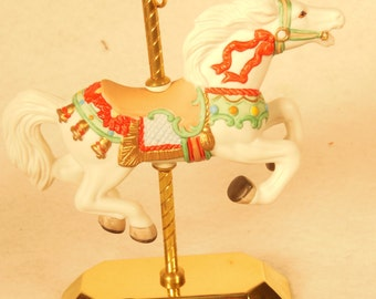 Vintage-1993-Tobin Fraley Carousel Horse-With Stand and Original Box