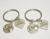 2  Pinky Promise Best Friend Heart BFF Keychains