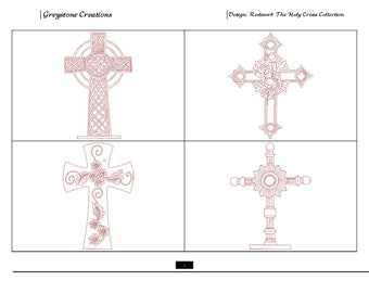 Redwork The Holy Cross Collection PLUS 2 BONUS DESIGNS