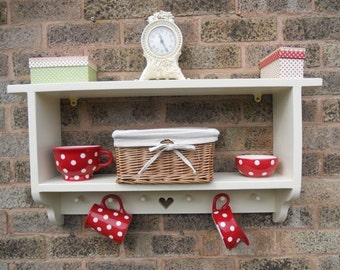 Shabby Chic Nursery Farmhouse Bookcase Shelves shelf Wall Unit