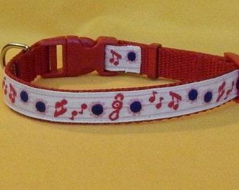 Medium Music Notes collar