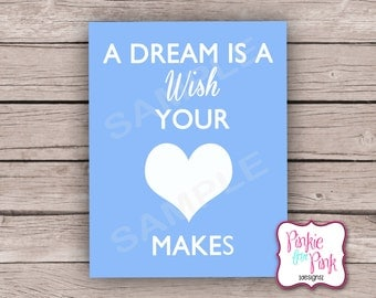 INSTANT Download Cinderella Digital File A Dream is a Wish Your Heart Makes