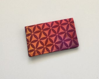 Purple Business Card Holder, ID Wallet, Business Card Case, Quatrefoil Business Card Holder, Gift Card Holder