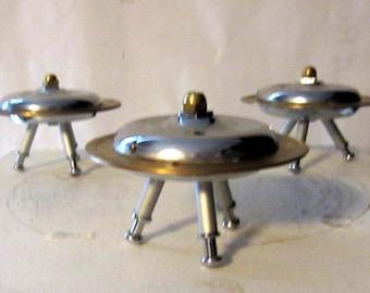 Handmade UFO flying saucer art/paperweight -- iPad smasher