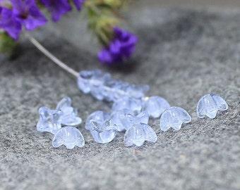 Flower czech glass beads, czech glass flower cap 30Pc flower beads, czech glass, bell flower beads, pressed beads, czech glass beads 5х5 mm