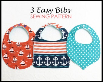 Baby Bib Pattern, Baby Sewing Pattern, Infant Bib Pattern, Baby Bib Patterns, Bib Pattern, Bib Patterns, PDF Sewing Pattern, BASIC BIBS