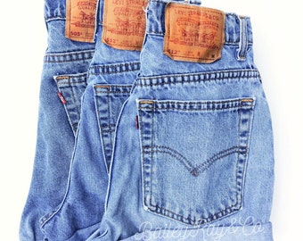 Levis High Waisted Cuffed Denim Shorts Rolled Up Denim Shorts