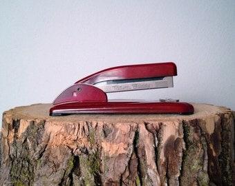 Vintage Red Stapler Tatum Buddy Stapler Like Swingline or Bostitch Stapler Office Space Stapler Industrial Stapler