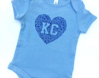 Kansas City Floral Baby Onesie