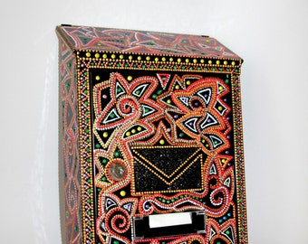 Mailbox, letterbox, postbox, mail,letter-box, Hand painted