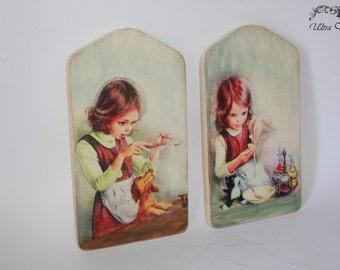 2 Cutting board, wooden board, boards, kitchen decor