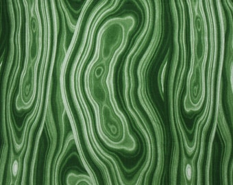 Robert Allen Stone Agate Pillow Cover in Malachite Green - SAME Fabric BOTH SIDES - Invisible Zipper -  accent pillow