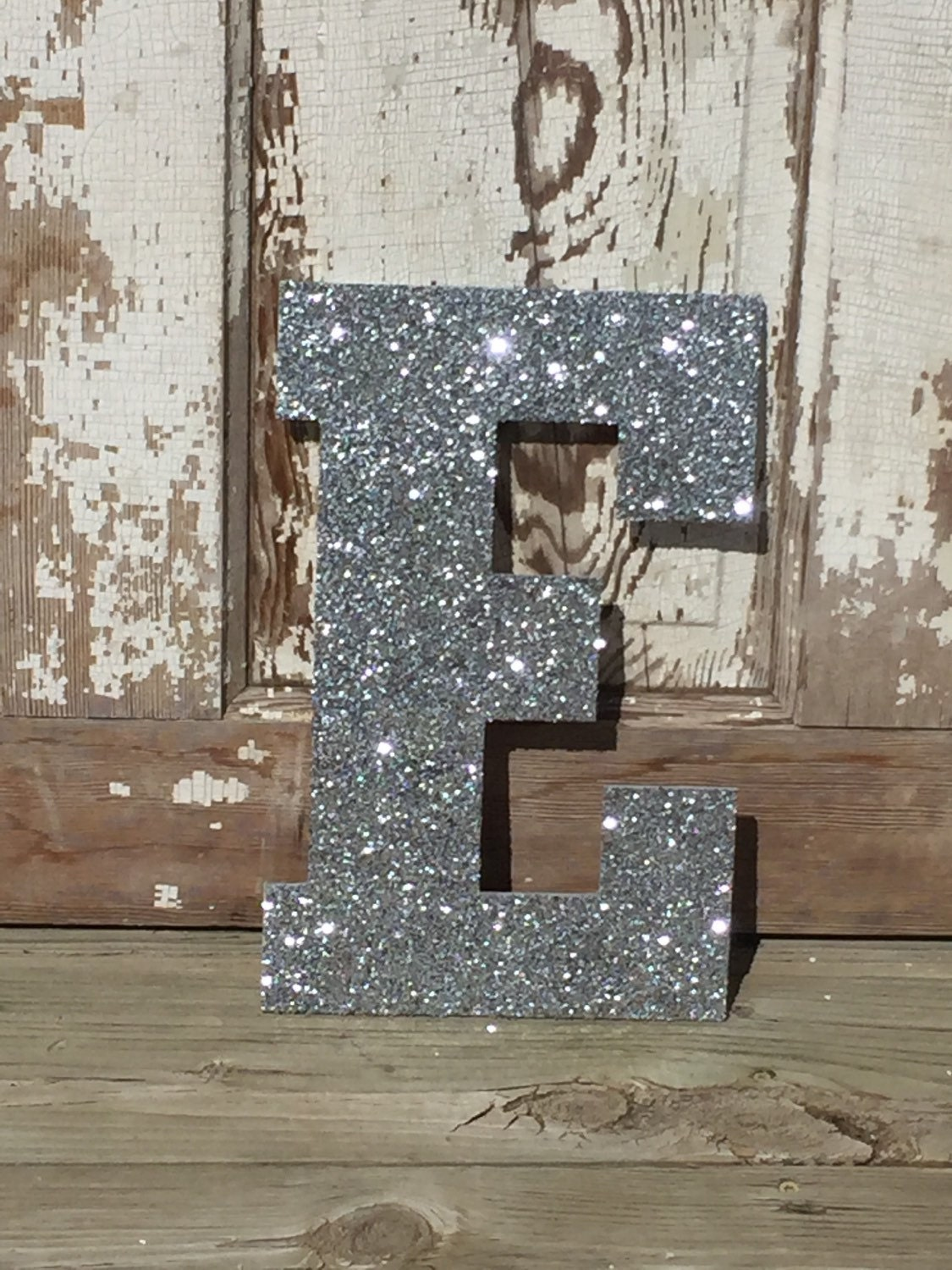 Decorative 13 Silver Glitter Wall Letters Girls Bedroom