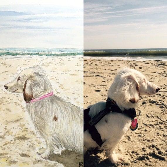 Custom watercolor, pet portrait, dog watercolor, dog painting, dog portrait, pet watercolor, cat watercolor, pet painting, good cause