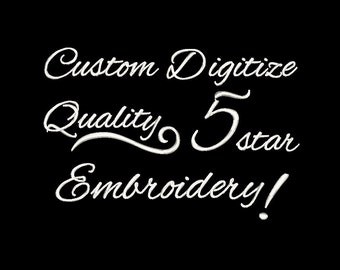 Custom Embroidery Digitizing contact me for free quote