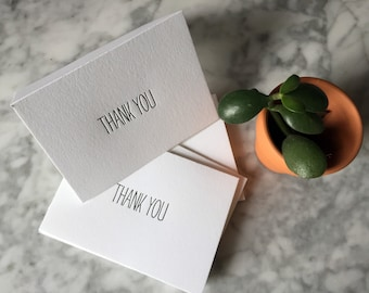 Letterpress 'His' Thank You Cards